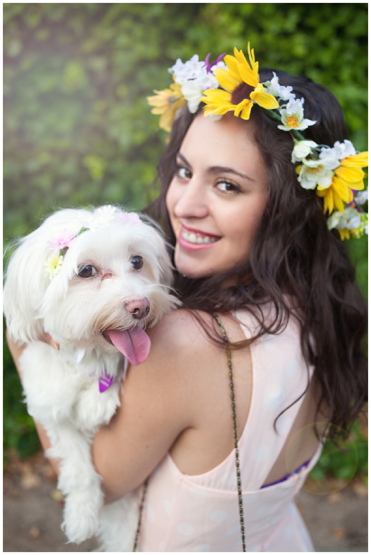 Puppies are a girls best friend lush to blush flower crown izmirmasajfo Gallery