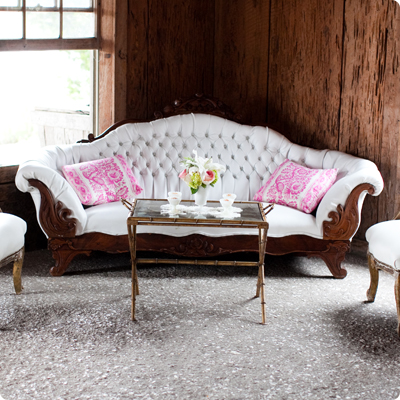 tufted vintage couch