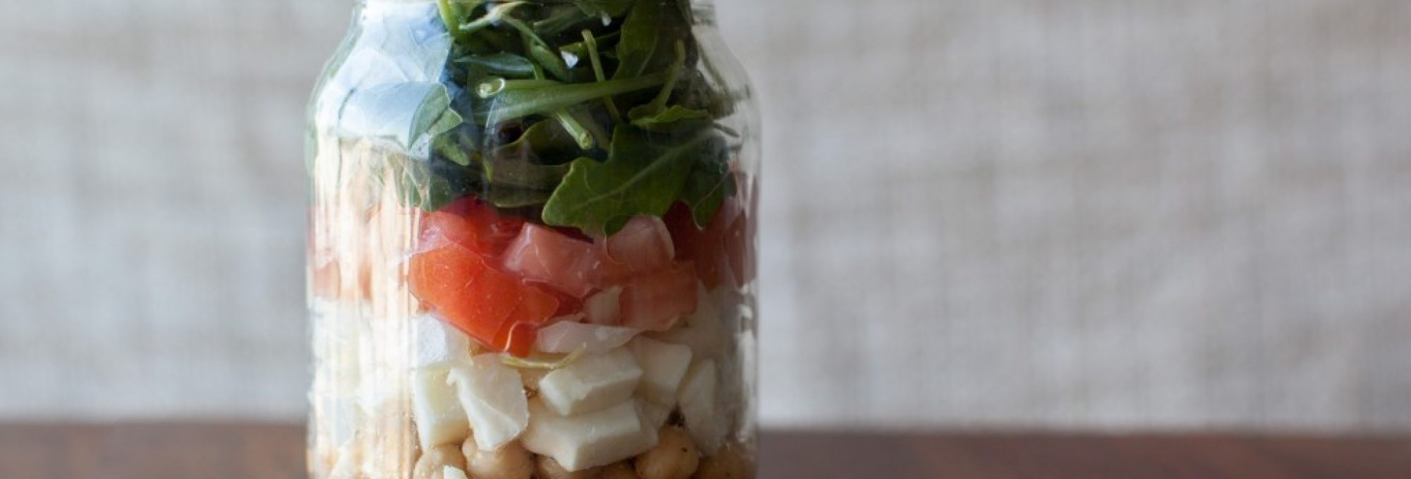 mason jar lunch, mason jar salad