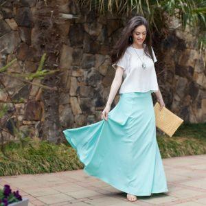 seafoam maxi skirt