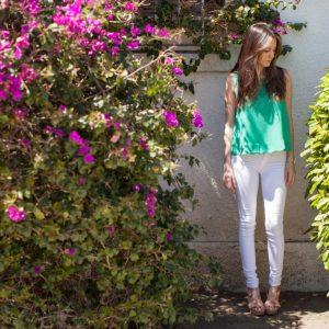 los angeles, shop elle b, lylas clothing, white jeans