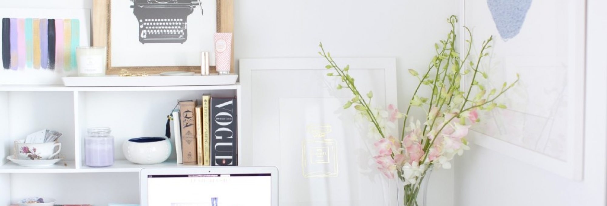 home office essentials, blog talk, blogging, desk styling tips