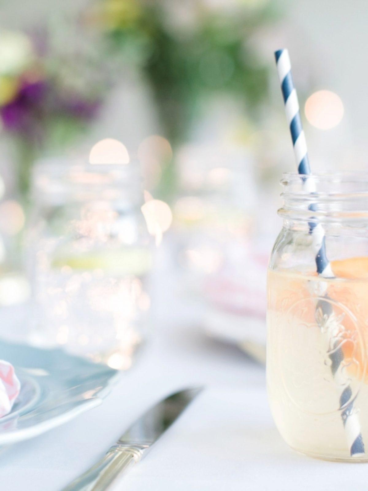 adorn, adorn media group, dinner party, garden party, adorn dinner party, garden dinner party, peach honeysuckle cocktail