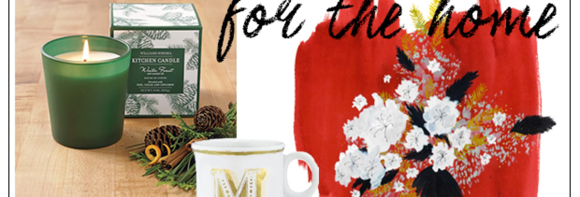 home gift guide under $25, monogram mug, tide and bloom, williams-sonoma giveaway, scented candle, for mom, for your man, for your guy, for the coworker, faux fur throw blanket, DIY lotion making kit, target, nate berkus, gold vase, peppermint platinos, art, target
