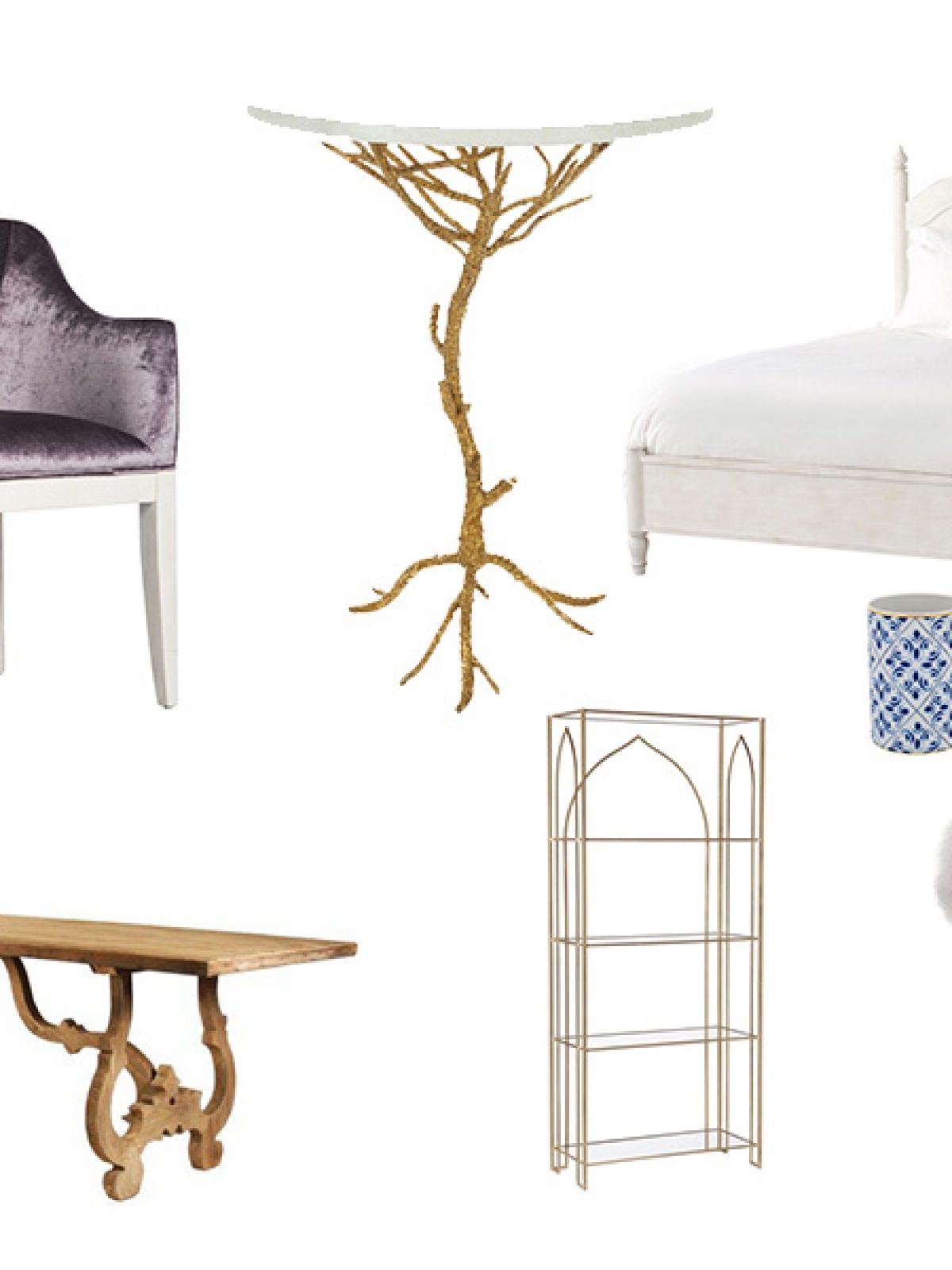 feminine home decor inspiration, home decor ideas, gold and white home decor, scenario home