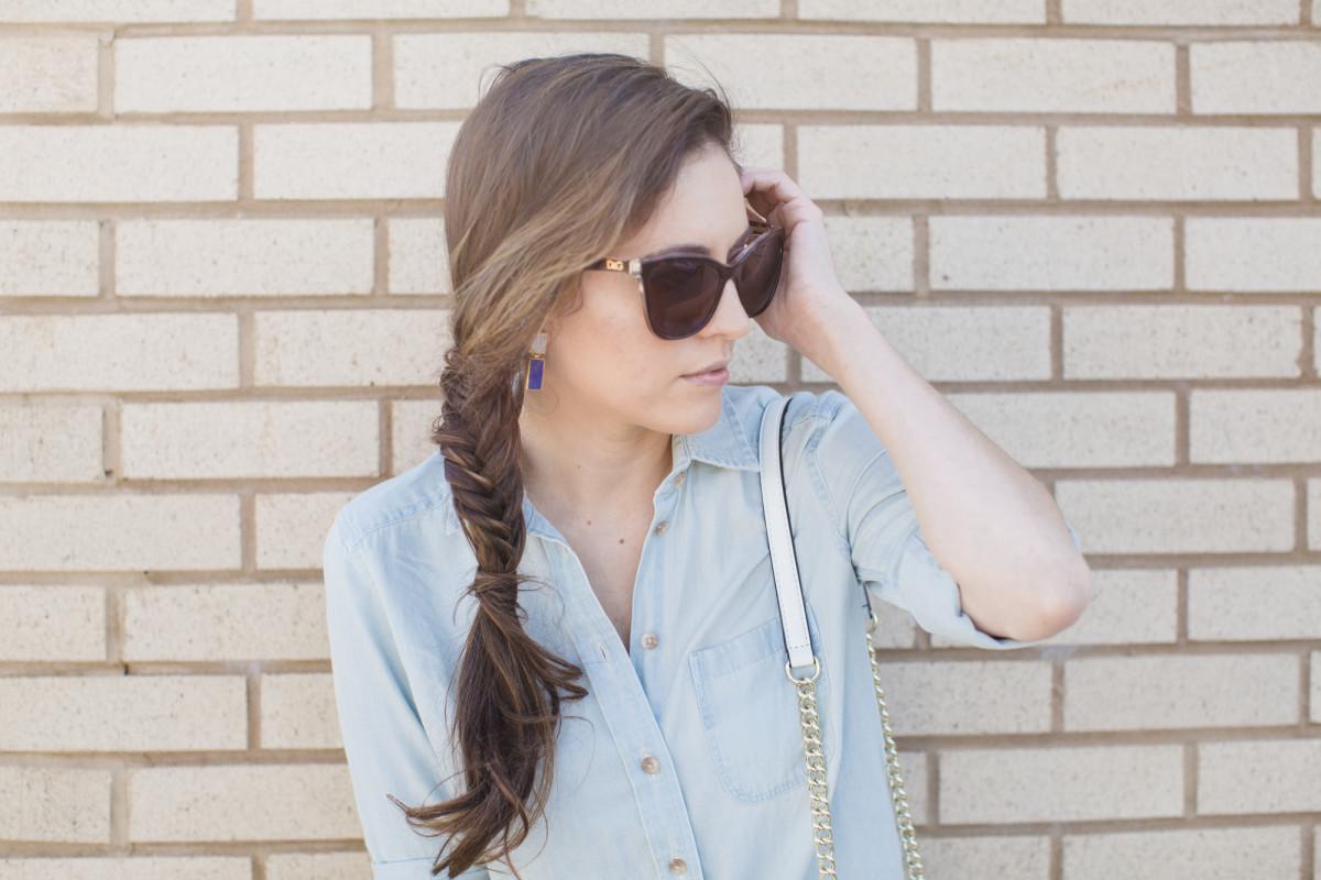 fishtail braid tutorial, summer hairstyle ideas, spring hairstyle ideas, nexxus oil infinite review, easy hairstyles, how to braid, how to do a fishtail braid, how to remedy dry hair, best shampoo for dry hair, best conditioner for dry hair