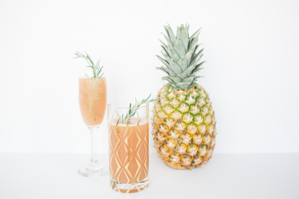 splendid blend, cocktail recipe, spring cocktail, summer cocktail, happy hour, champagne cocktail recipe, pineapple cocktail recipe, pineapple drink recipe