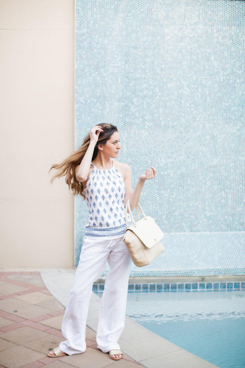 Mclaughlin Beach Style Summer How To Wear White Linen Pants