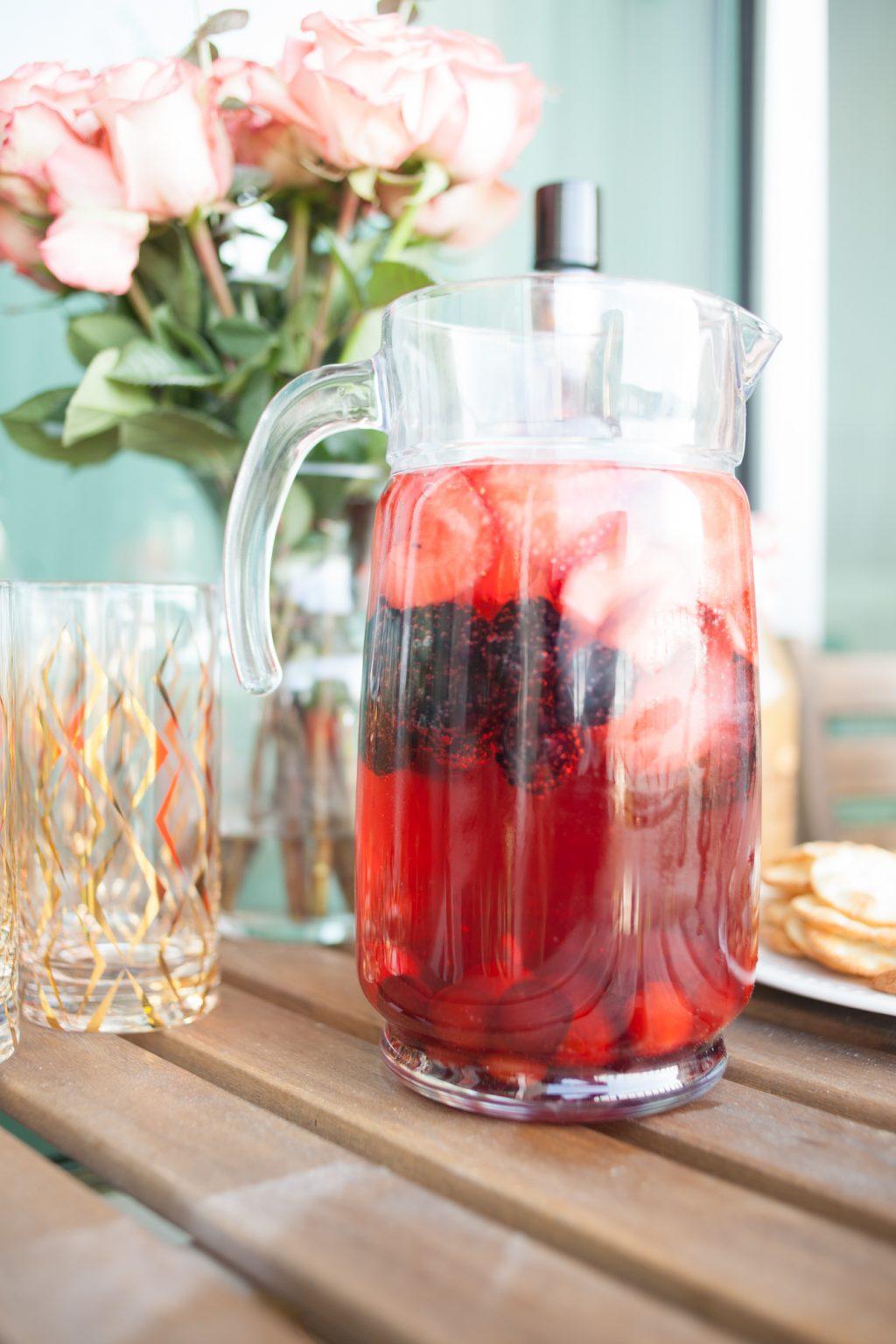 uv sangria vodka, uv vodka, sangria recipe, strawberry lemonade sangria, memorial day celebration, summer soiree party