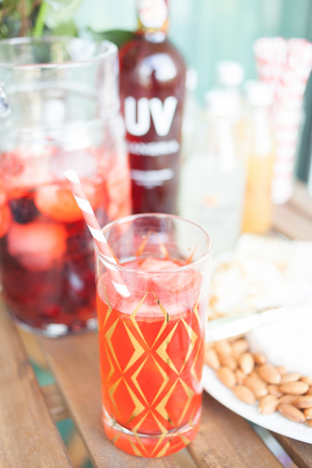 uv sangria vodka, uv vodka, sangria recipe, strawberry lemonade sangria, memorial day celebration, summer soiree party