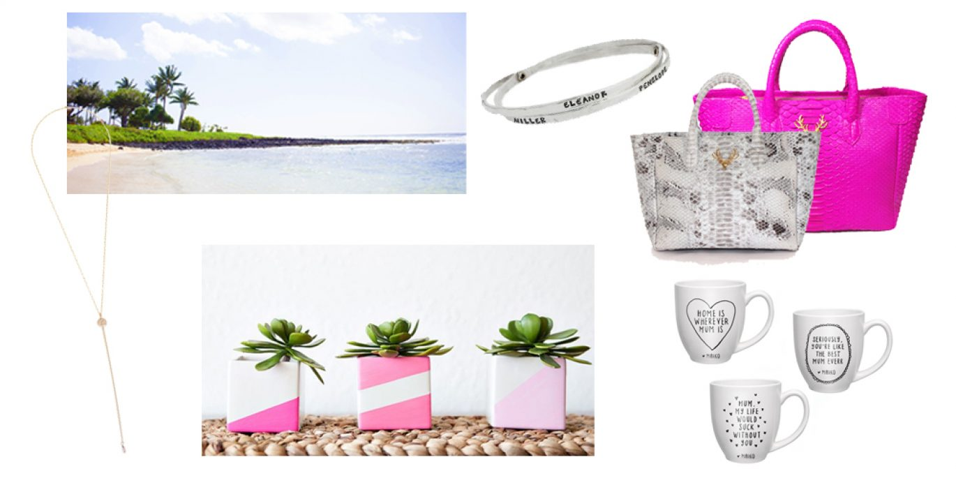 Mother's Day Gift Guide, gift ideas for mother's day, taxidermy handbags, taudrey jewelry, Darby Smart, DIY gift ideas, Airbnb, diy mugs, personalized jewelry, what to get your mom