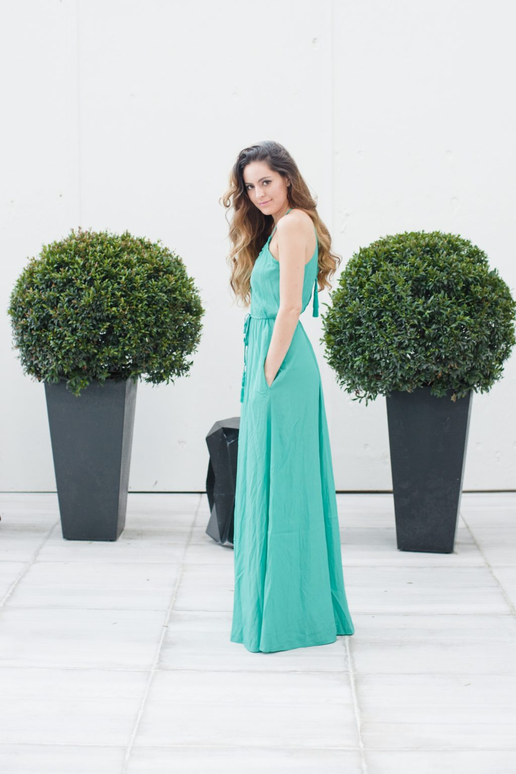 st regis bal harbour, calypso st barth, Batinly V-Neck Maxi Dress, turquoise maxi dress, miami beach, summer style