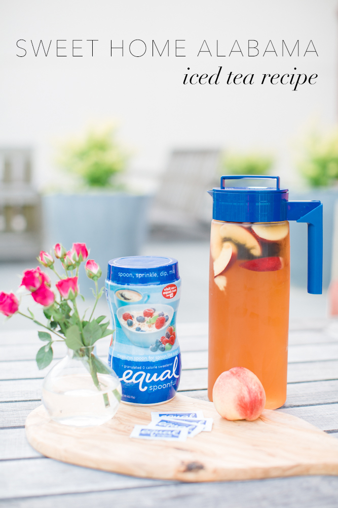 sweet iced tea recipe, equal zero calorie sweetener, peach iced tea, how to make iced tea