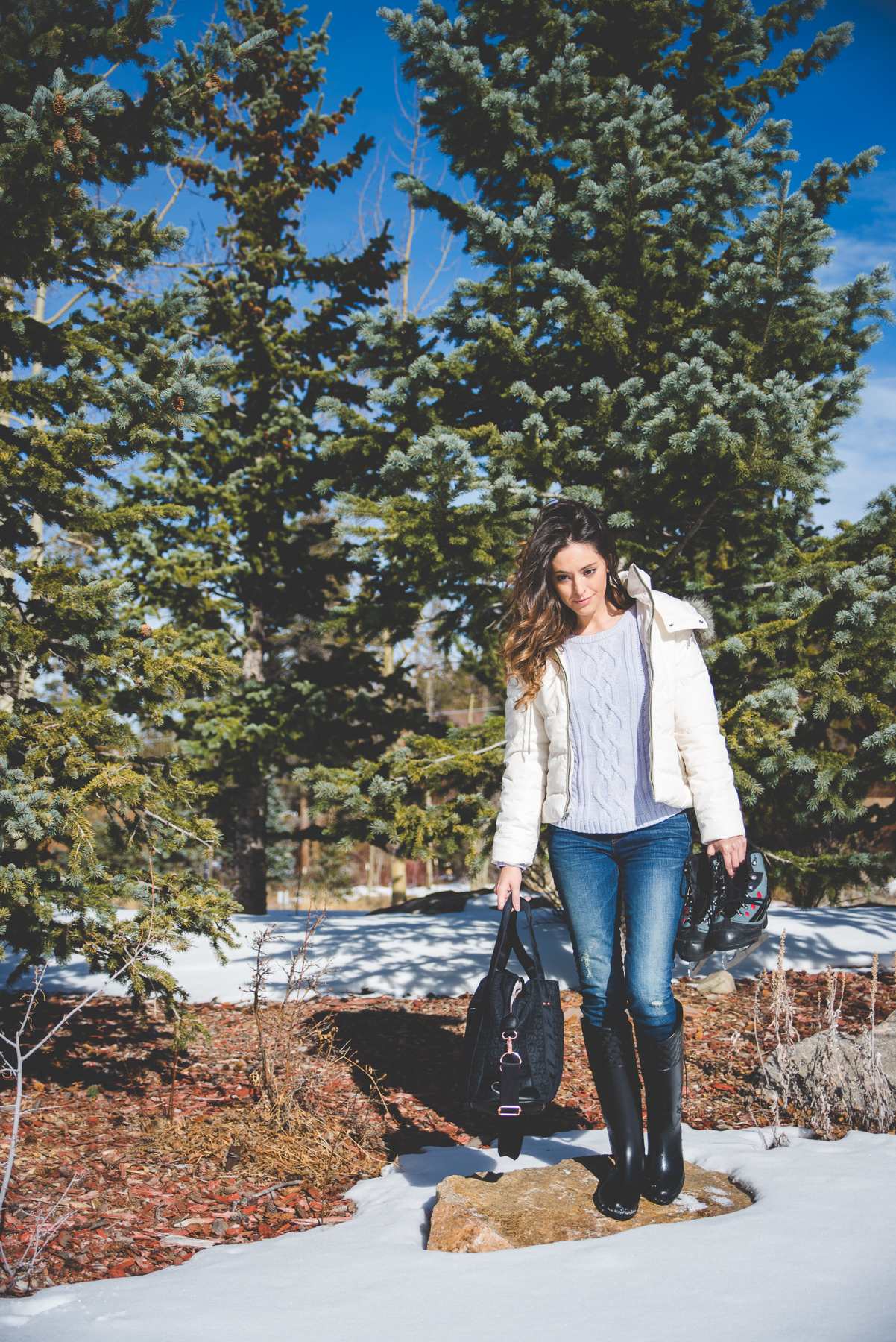 breckenridge, colorado, ice skating, winter sports, winter activities, what to do when it's cold outside, winter travel, travel blogger, vaseline deep moisture lotion