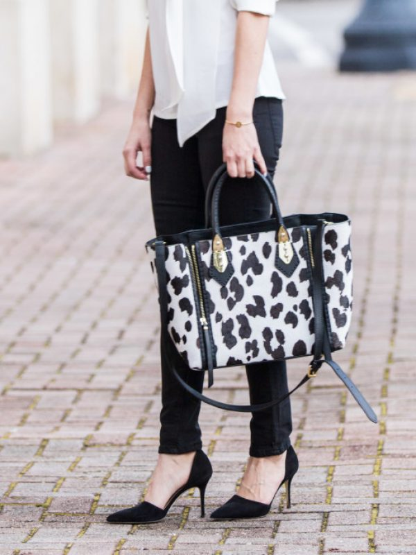 work outfit, work style, boss lady, girl boss, business casual, henri bendel, high neck blouse, work outfit ideas, work appropriate style, black and white outfits