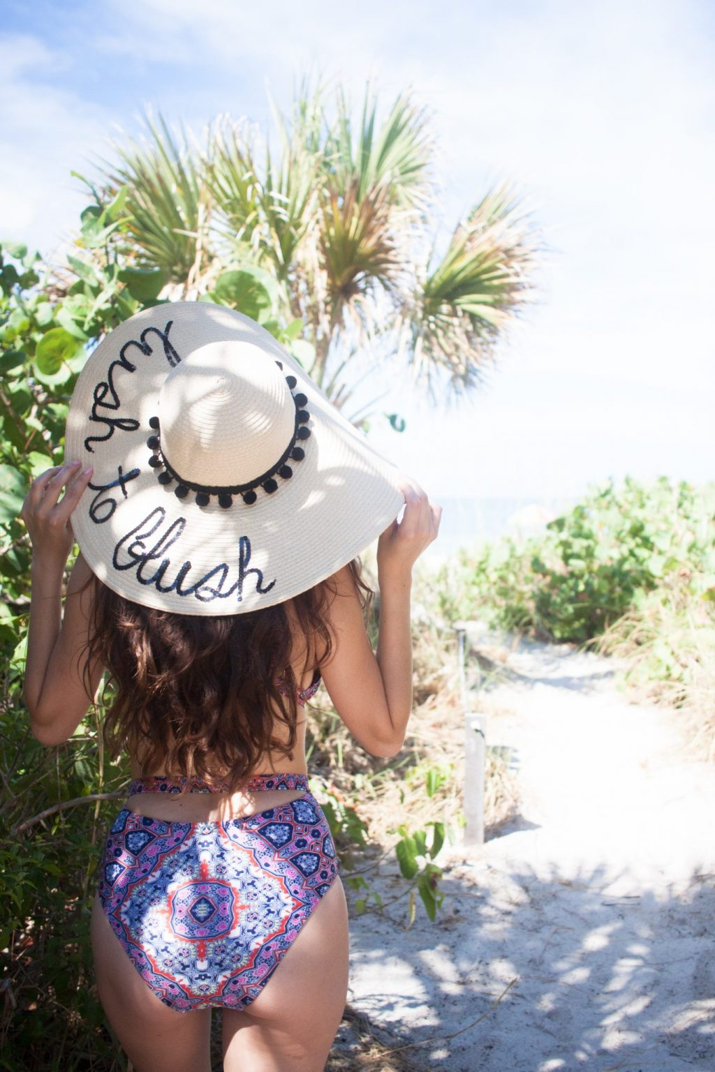 sanibel, captiva, cayo costa, cabbage key, shopbop, MINKPINK Wild For The Night Swimsuit, custom sunhat, Soludos Flat Lace Up Sandals, beach style, summer style, cute one piece swimsuits