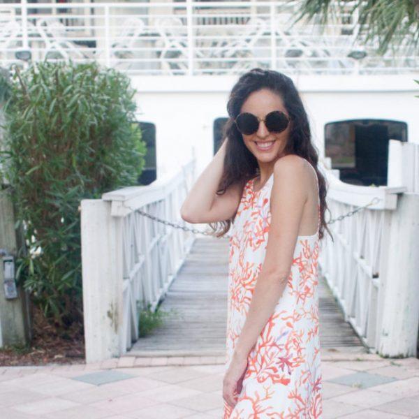 national seashell day, fort myers, sanibel, captiva, cooper & ella coral dress, cooper and ella Seren Dress