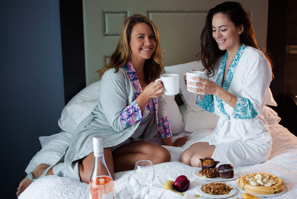 rosé all day, rose all day, breakfast in bed, napa valley, where to stay in napa valley, hampton inn and suites napa valley, project love, best friends