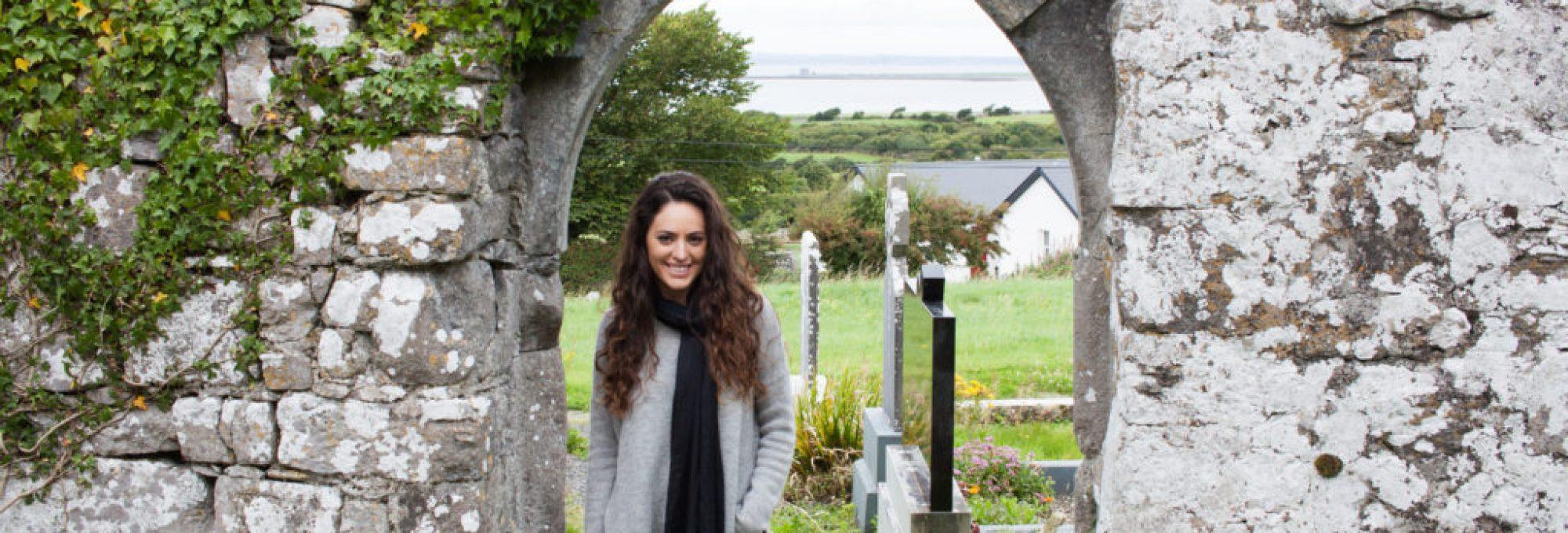 western ireland roadtrip, western ireland countryside, irish cottage, abandoned castle, fir trees, Galway, irish castles