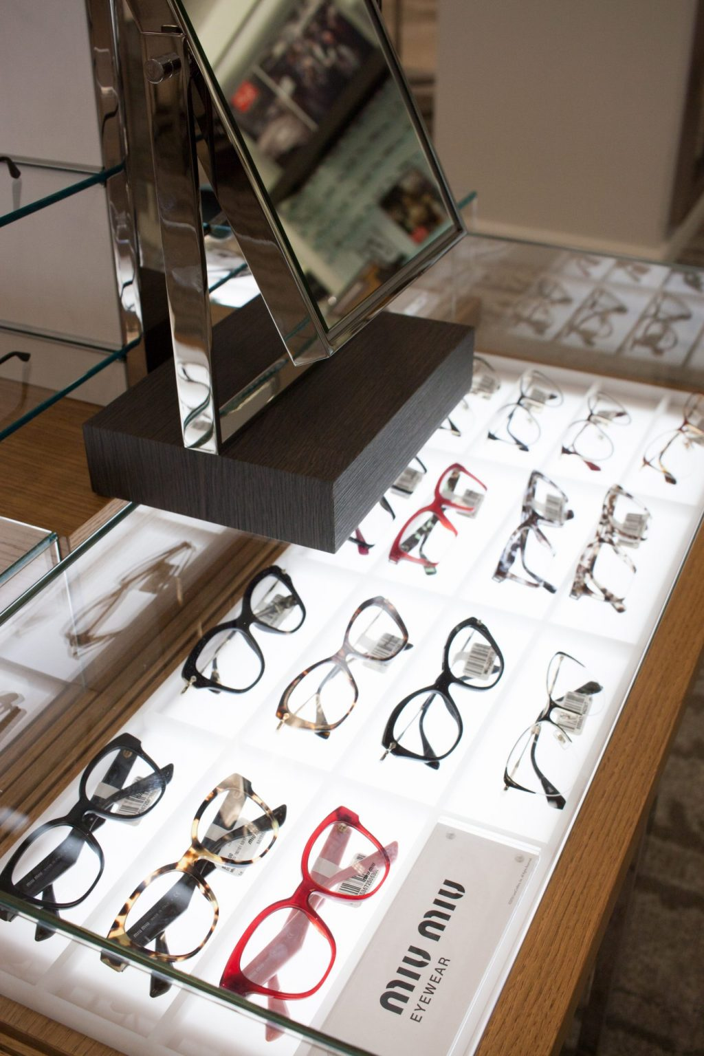 lenscrafters in macys at lenox mall, lenscrafters atlanta, luxottica, prada frames, designer prescription glasses, stylish glasses frames, eye exams in atlanta, eye doctors in atlanta, plastic and wire frames, plastic and metal frames, PRADA PR 55SV CINEMA
