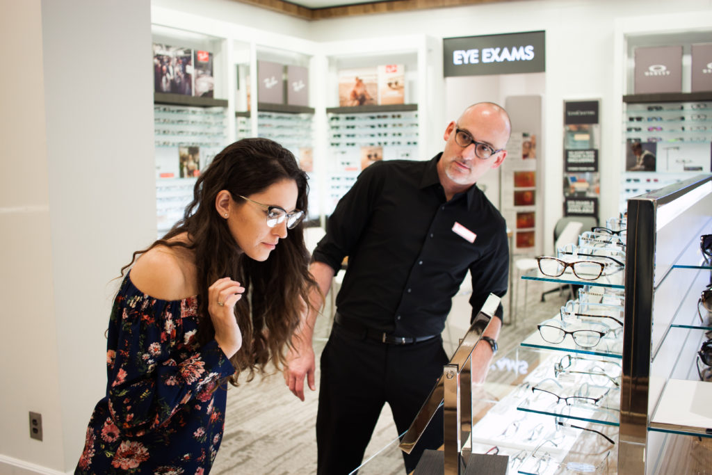lenscrafters in macys at lenox mall, lenscrafters atlanta, luxottica, prada frames, designer prescription glasses, stylish glasses frames, eye exams in atlanta, eye doctors in atlanta, plastic and wire frames, plastic and metal frames, PRADA PR 55SV CINEMA