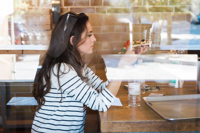 antico pizza atlanta, where to eat in atlanta, atlanta restaurants, indigo rd. booties, fall style, casual fall style, how to wear horizontal stripes
