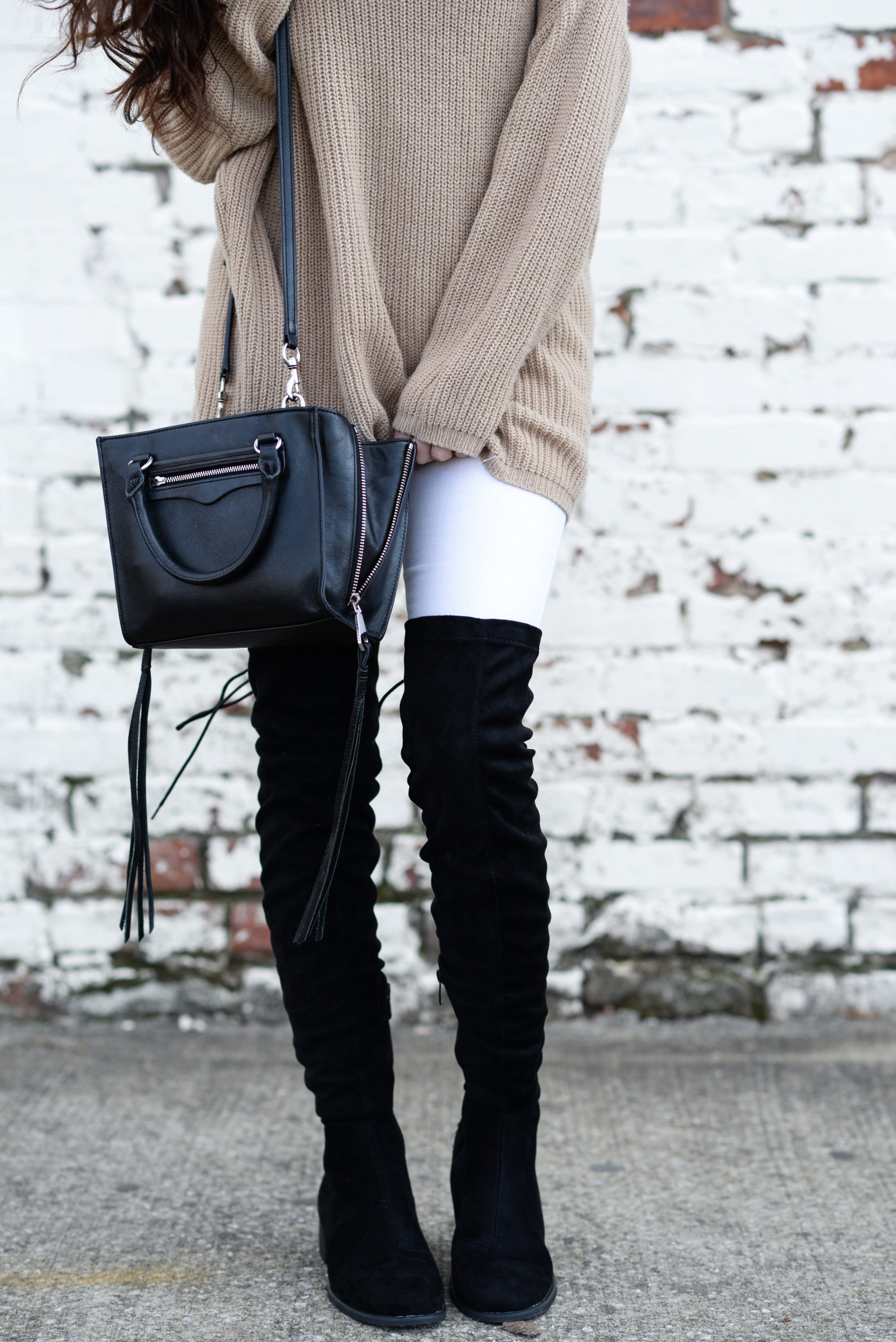 comfy casual style, how to be comfy and warm, casual winter style, winter outfit ideas, how to wear over the knee boots, cheap over the knee boots, cute over the knee boots, tie up over the knee boots, casual outfit ideas, casual winter style