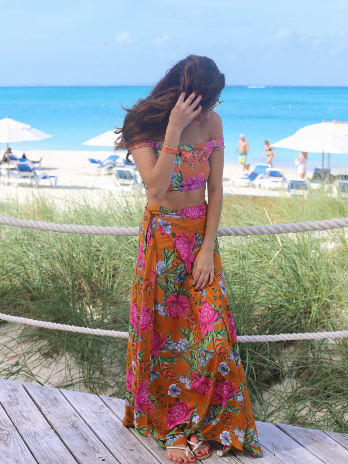 triya Saia Laço Amazon Flowers, triya Biquíni Top Cris Calcinha Fixa Up Amazon Flowers, matching set, resort wear, what to wear on an island vacation, turks and caicos