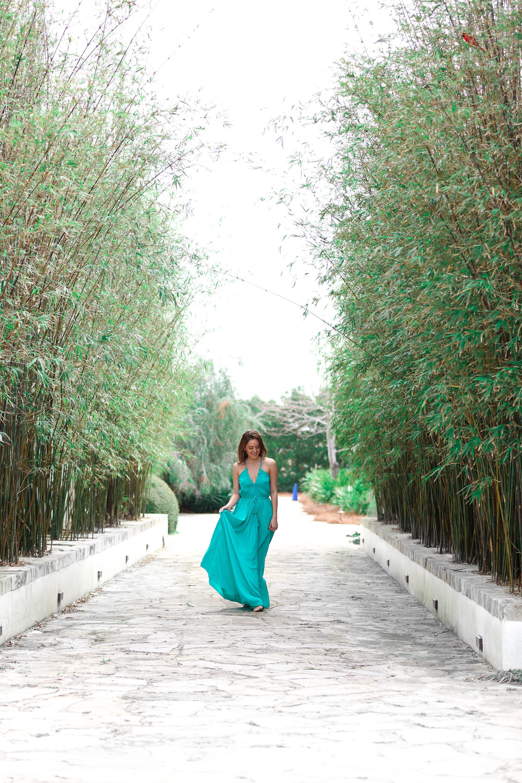 alys beach, 30a, green silk maxi dress, beach glamour, beach luxe, resort wear