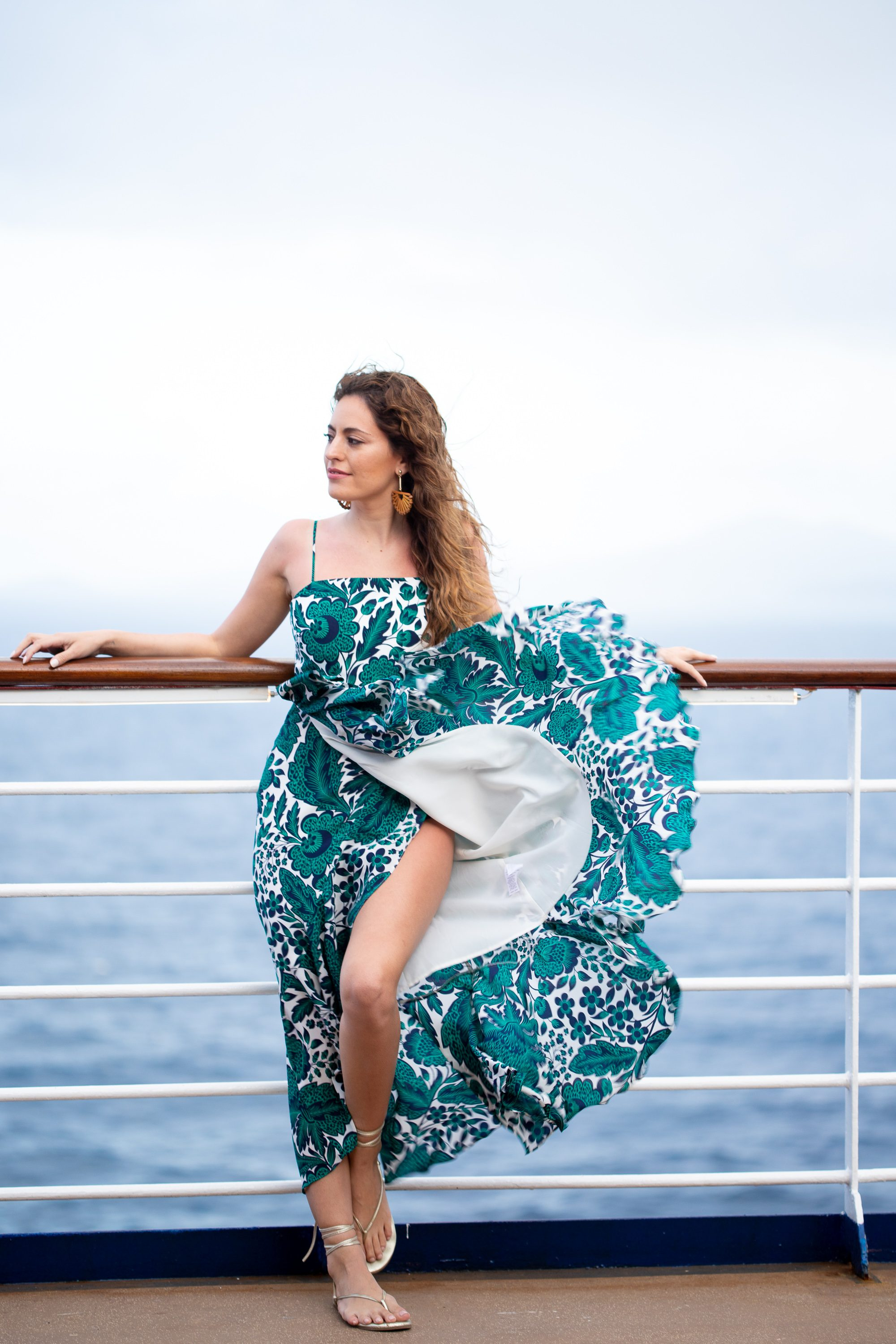 Ruffle High/Low Silk Dress J.CREW, celebrity cruises celebrity summit, what to wear on a cruise, vacation outfit ideas, resort chic dresses, feminine spring dresses, spring outfit ideas