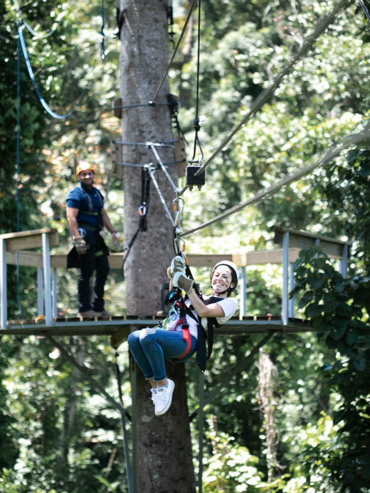 ziplining in el yunque, ziplining in puerto rico, ziplining in the rainforest in puerto rico, junglequi zipline park reviews, what to do in puerto rico, adventurous things to do in puerto rico, best zipline puerto rico