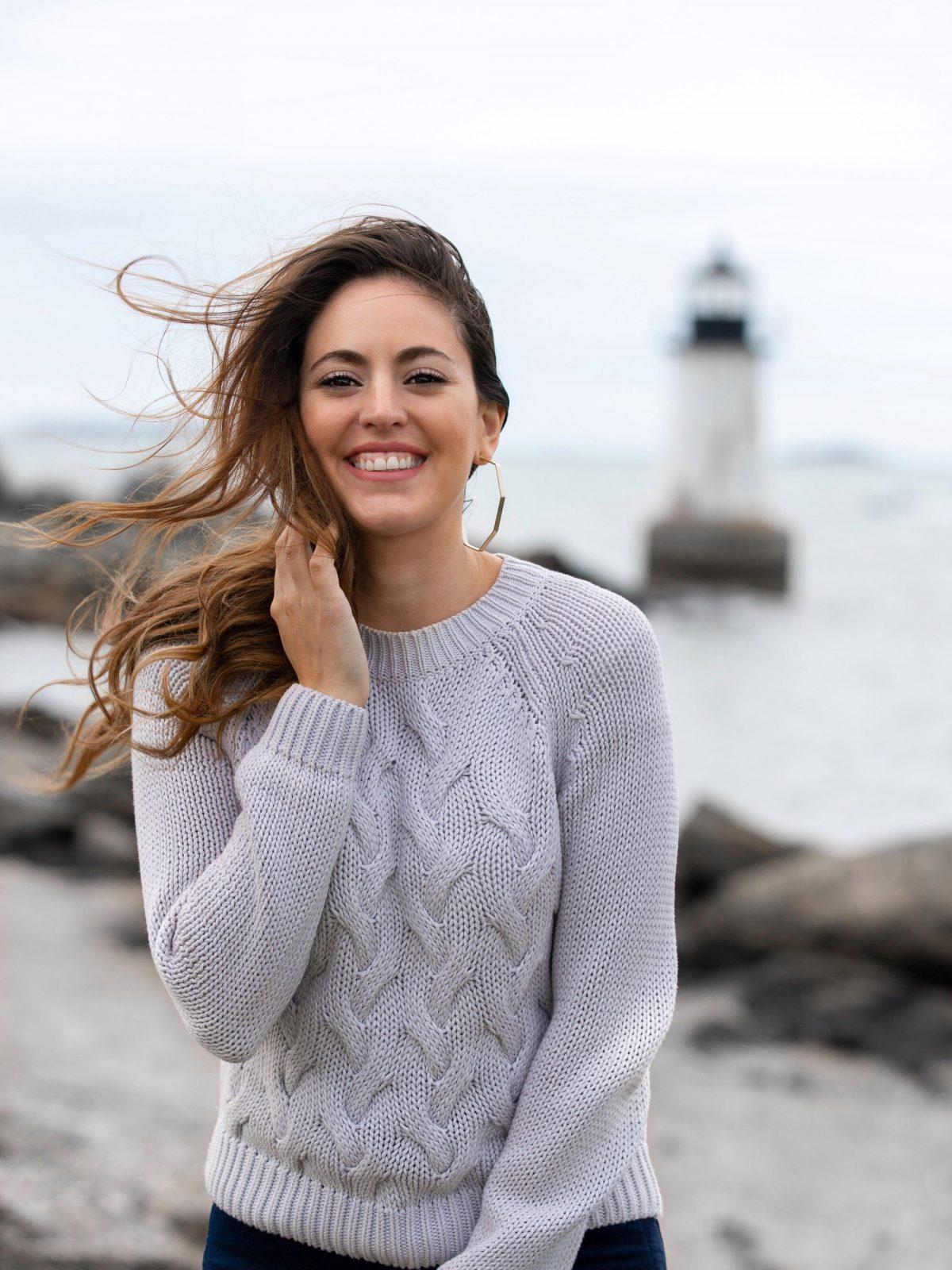 marblehead, Massachusetts, coastal new england, L'Agence - Solana Flared Velvet Pants in Navy, winter island, autumn in new england