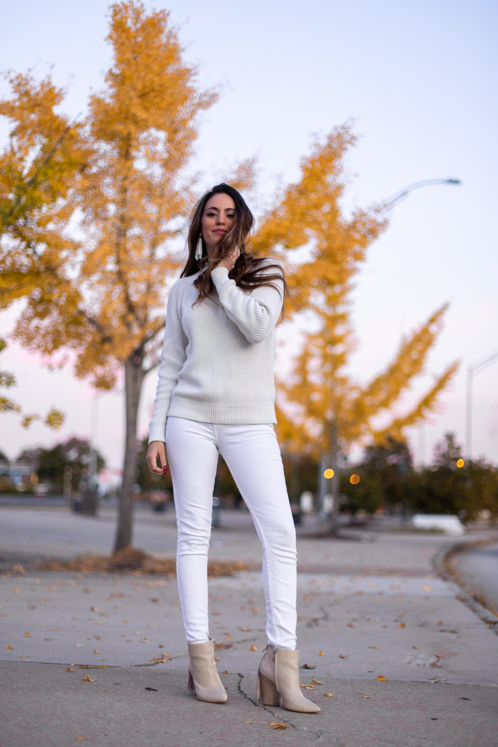 white on white, wearing white after labor day, how to wear white in the fall, chasing light, atlanta style blogger
