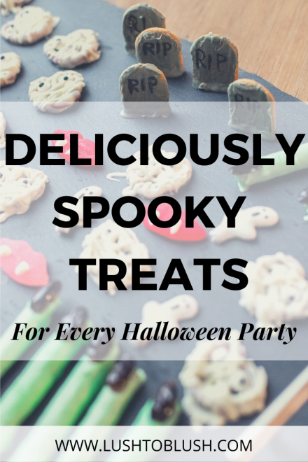 Luxury travel & lifestyle blogger, Megan Elliot at Lush to Blush shares how to make these quick and easy Spooky Halloween Treats for your next Halloween themed get together!