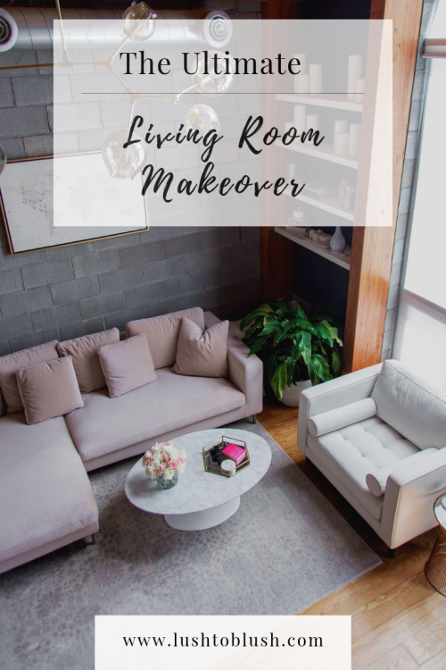 Looking for chic living room decor? Luxury travel & lifestyle blogger, Lush to Blush shares a complete look at her new living room makeover.