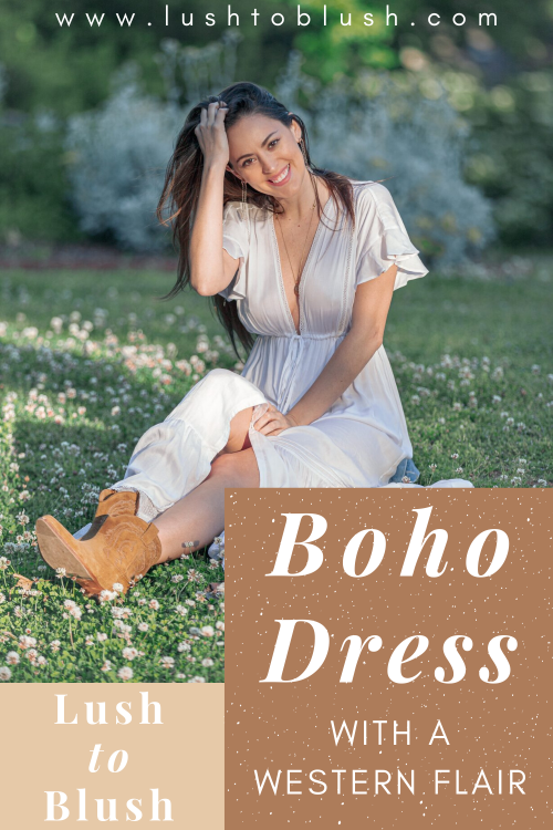 Luxury travel & lifestyle blogger, Lush to Blush shares ways to style a beautiful Western Boho chic outfit!