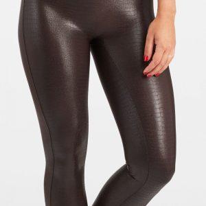 spanx faux croc shine leggings