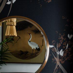 midcentury modern accent wall, home bar design, home bar decor, home mural art, local atlanta artist, Christina Kwan art, how to create a modern accent wall, accent wall ideas, accent wall tips, accent wall design ideas, unique home bar ideas